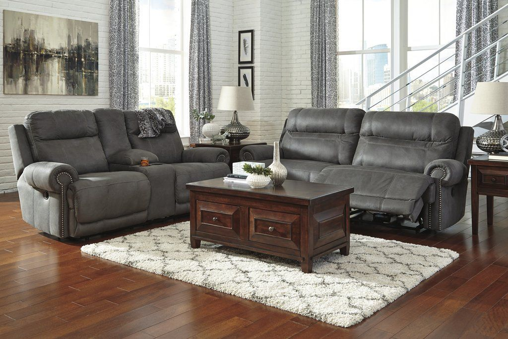 Chaise Lounge Sofa Austere Contemporary Gray Color Microfiber Reclining Sofa And Loveseat Subtle touches such as sporty jumbo stitching nailhead trim and a weather worn