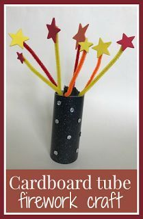 Cardboard tube firework craft