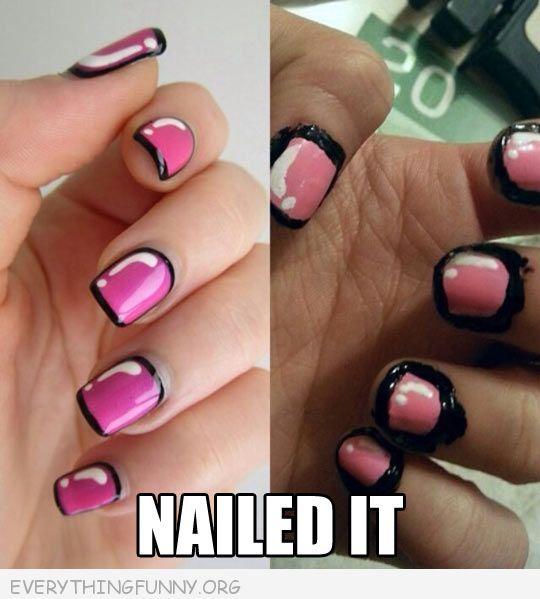 They Used A Nail Art Pen Not Normal Nail Polish Nails