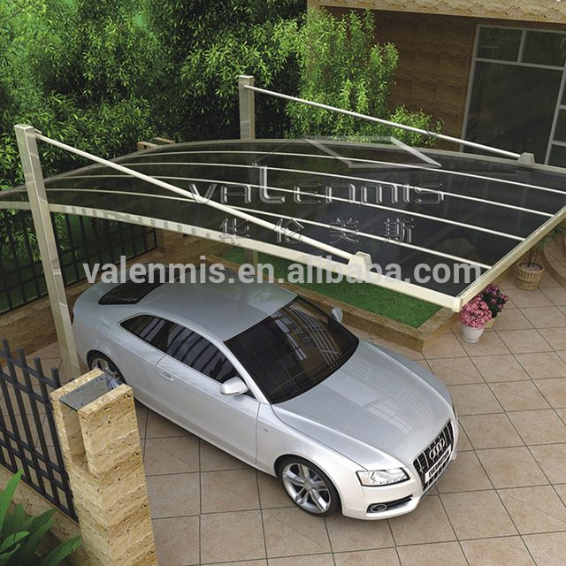 Source High Quality Hot Sale Outdoor Car Garage Carport Aluminum Polycarbonate Carport Canopy With Uv Protection O Cantilever Carport Carport Designs Car Shed