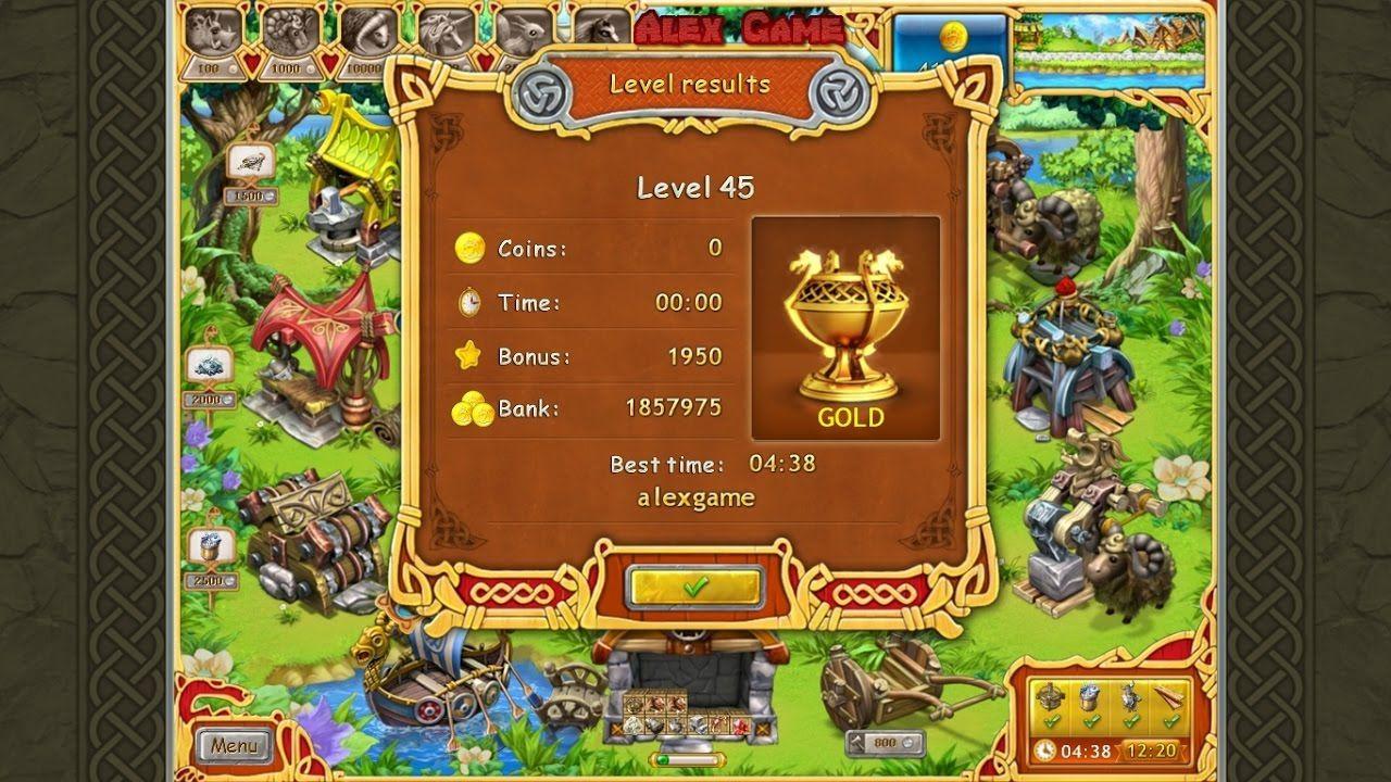 Farm Frenzy Viking Heroes Standart Level 45 GOLD Веселая