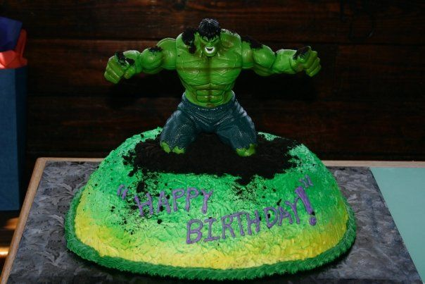 Hulk Birthday Cake  Recipes to Cook  Pinterest