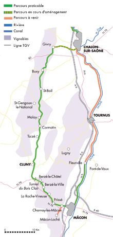 Canal De Bourgogne à Vélo : canal, bourgogne, vélo, Bourgogne, Vélo, Détail, Votre, Parcours, Macon,, Itinerary,, Cycling, Route