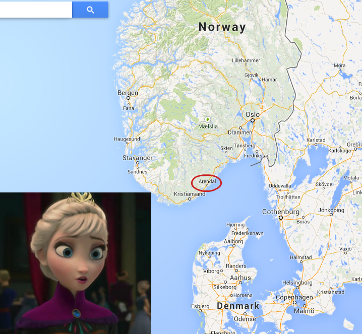 I was looking at norway on google maps when i noticed something gumiabroncs Image collections