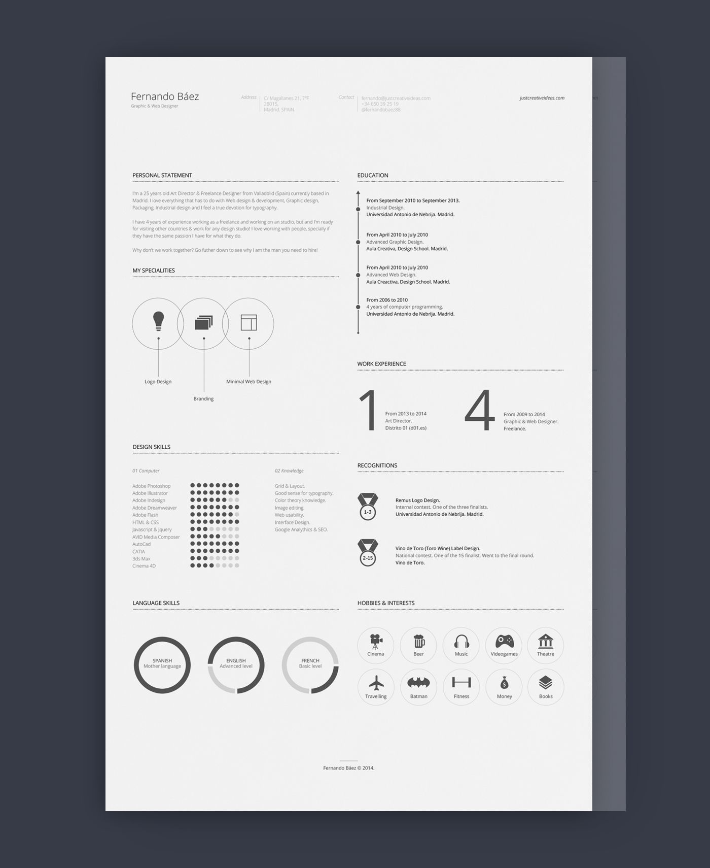 27 Beautiful Resume Designs You Ll Want To Steal Free Cv Template