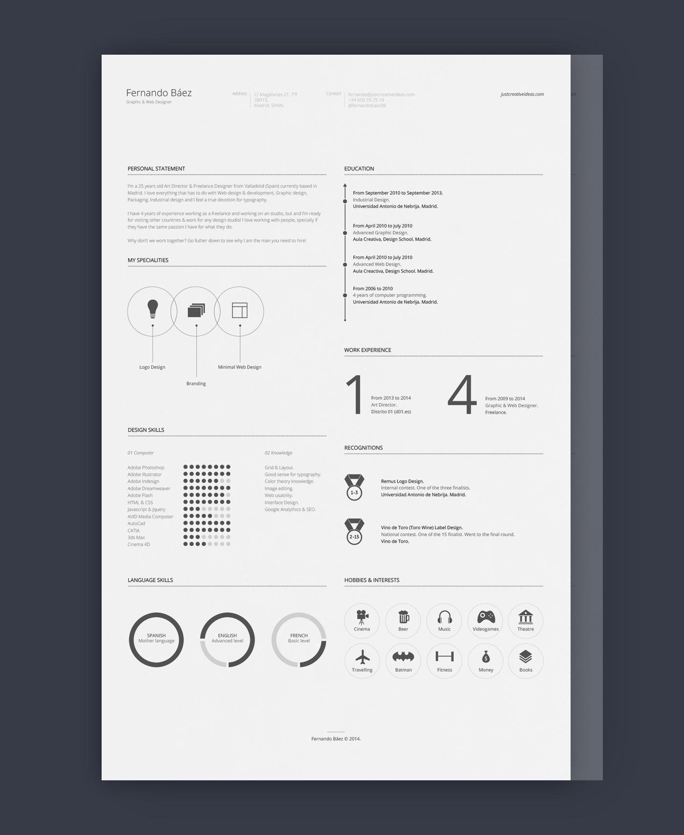 Design    Free Cv Template