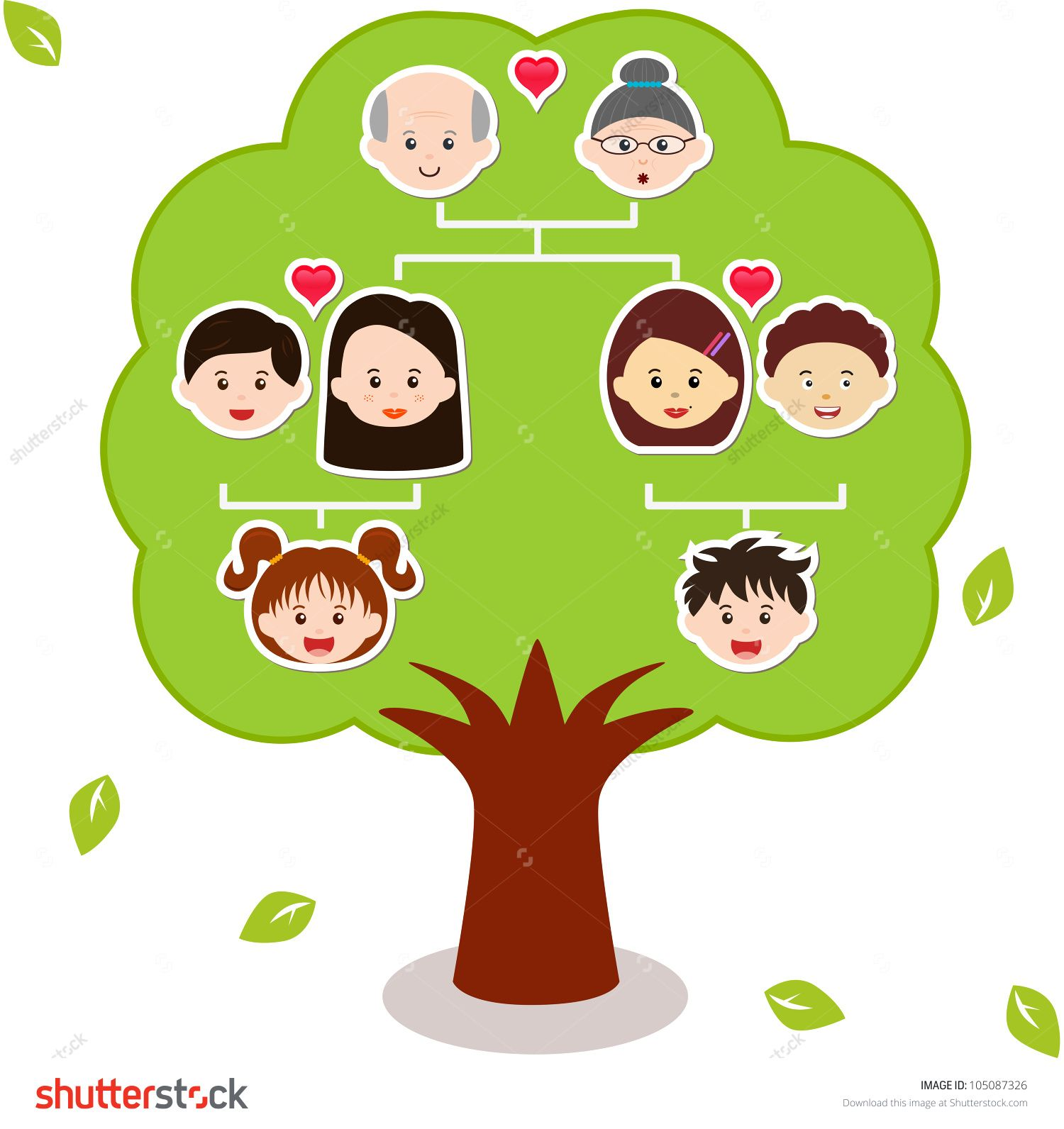 Vector Icons Family Tree, A diagram on a genealogical