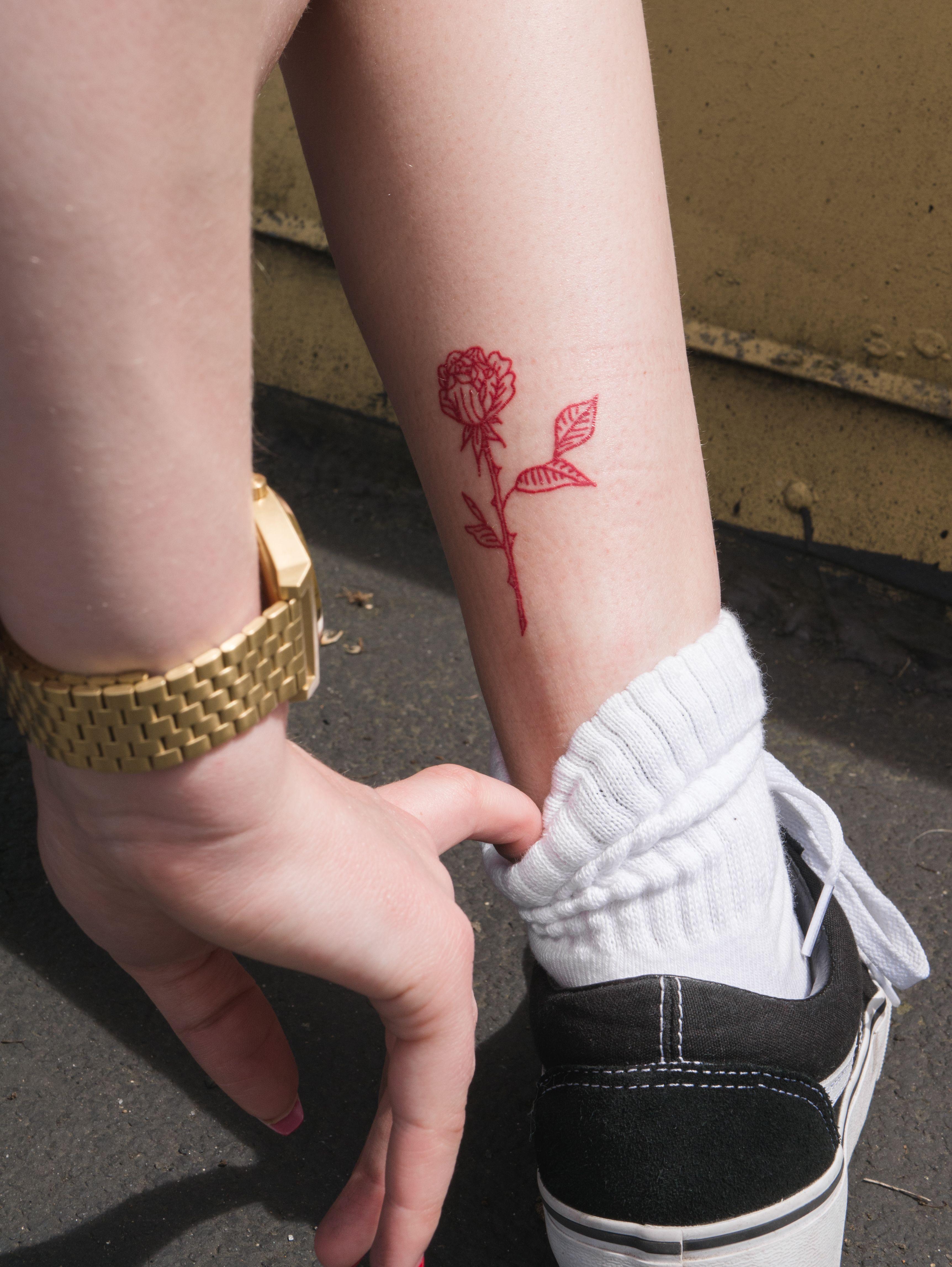 My New Tattoo Insta Fr Ickk Red Ink Tattoos Red Tattoos