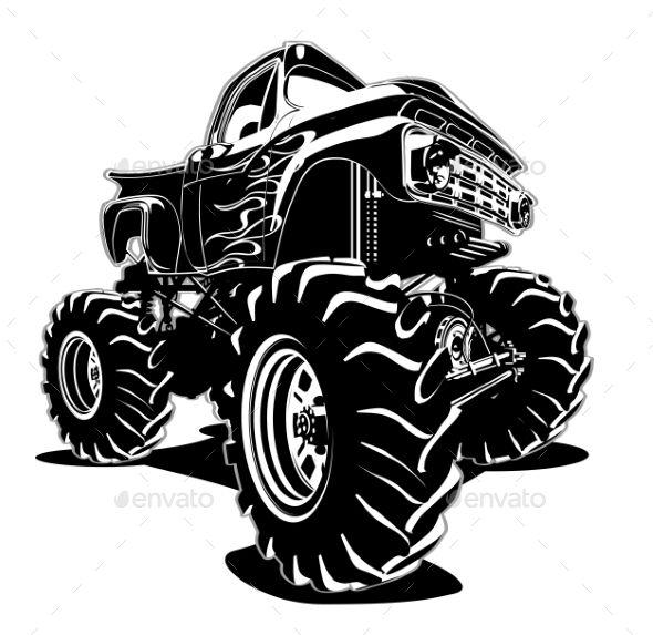 Cartoon Monster Truck Monster Trucks Cartoon Monsters Cool Car Drawings