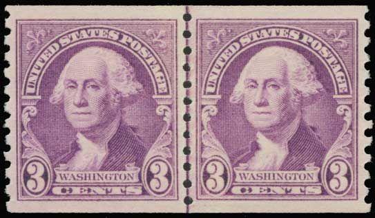 Collectors Corner - Scott# 721, 1932 3c Deep violet horizontal coil, PSE XF-Sup 95J, Mint OGnh - #24216364
