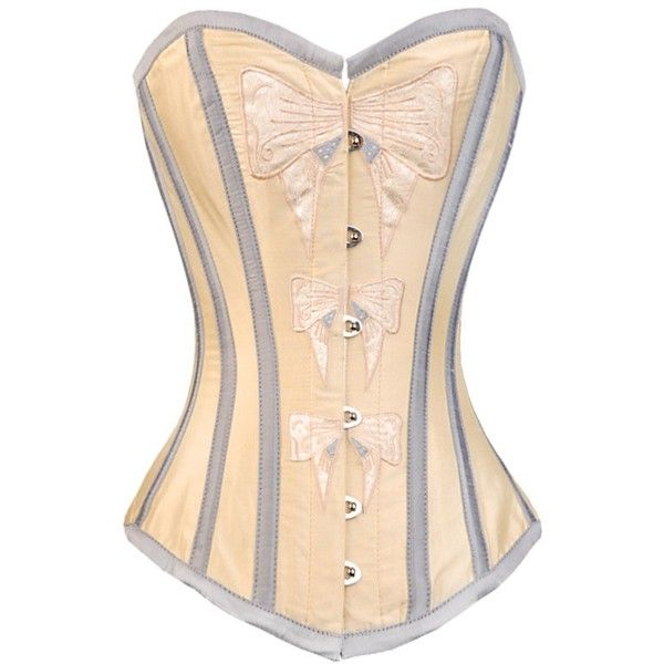 97ed514638 Cream overbust corset in silk dupion