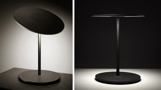 Industrial Kitchen Table Lighting: Pablo's Circa Table Light, Using Flat-panel LEDs.