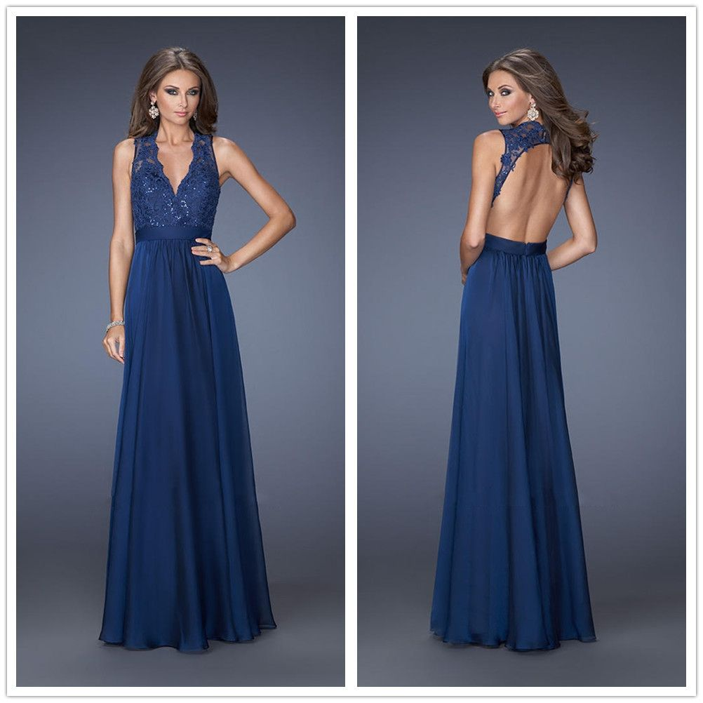 Prom dress a line chiffon bridesmaid dress lace prom dresses