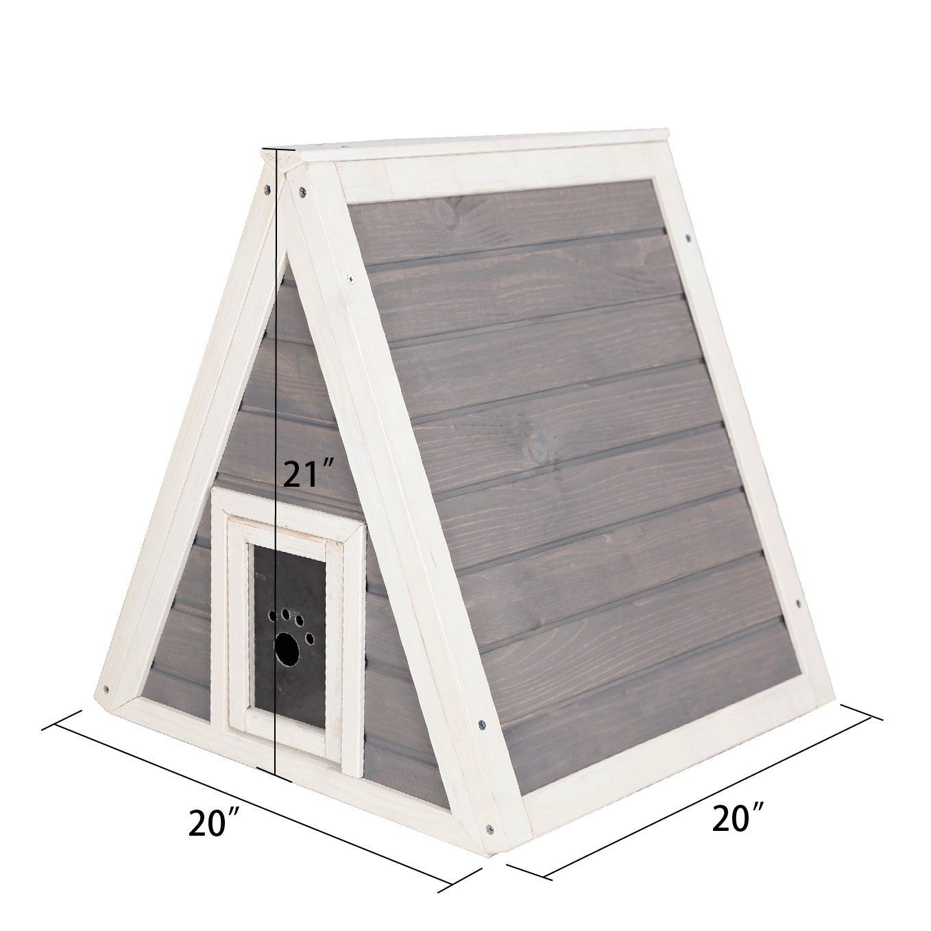 Petsfit Outdoor Indoor Cat Shelter For Feral Cat Wooden Cat House With Eave Cat Condo With Multi Colors Availabl Outdoor Cat House Cat House Wooden Cat House