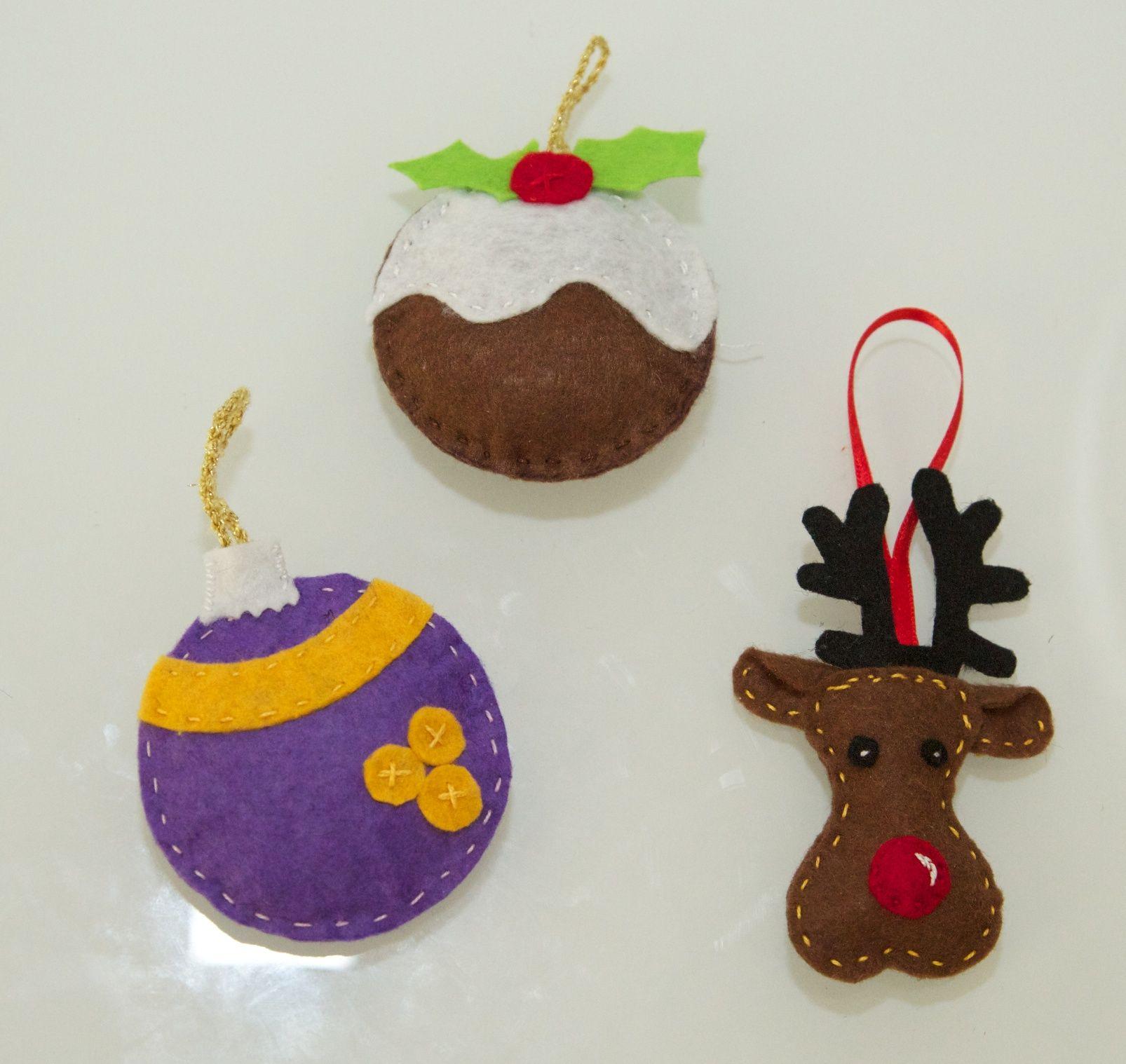 Adornos en fieltro para el rbol de navidad ideas para - Arbol de fieltro ...