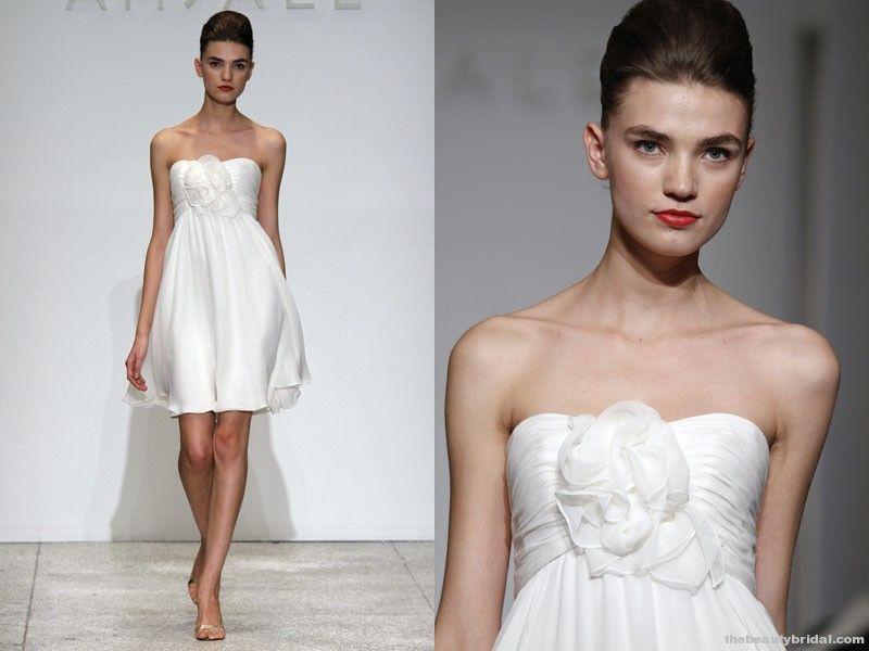Mimi Amsale Short Wedding Gown Short Wedding Dresses Pinterest