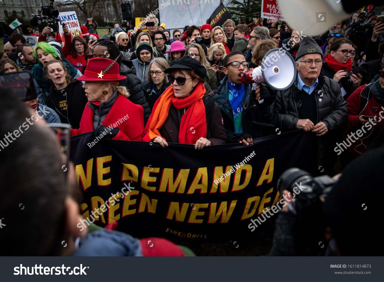 Washington Dc U002f Usa January 10 2020 Celebrities Join Hundreds Of Protesters At Jane Fonda S Final Fire Drill Spo Photo Editing Stock Photos Jane Fonda