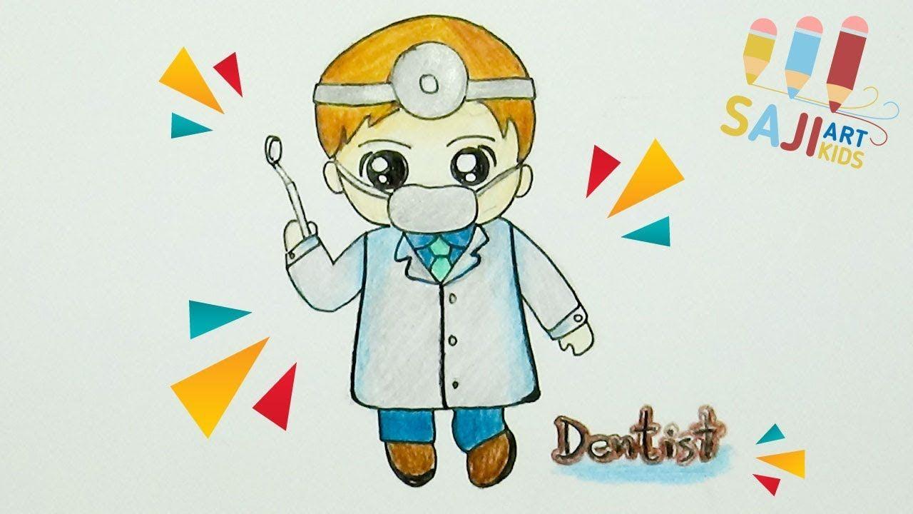 ว ธ วาดร ปหมอฟ น การ ต น วาดร ประบายส ไม สวยๆ How To Draw A Dentist การ ต น ศ ลปะ
