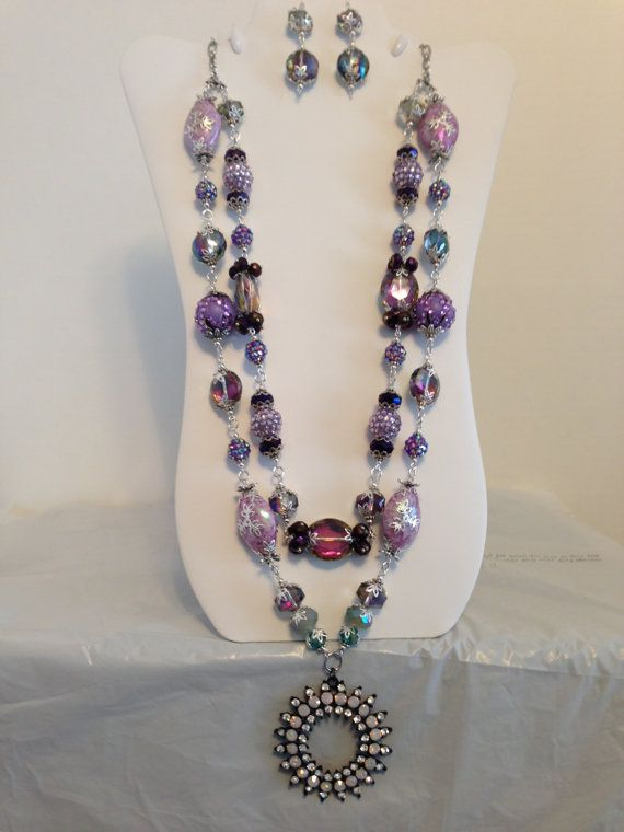 Necklace and Earrings with Faux Opal by JewelryWorksbyCarol, $62.50