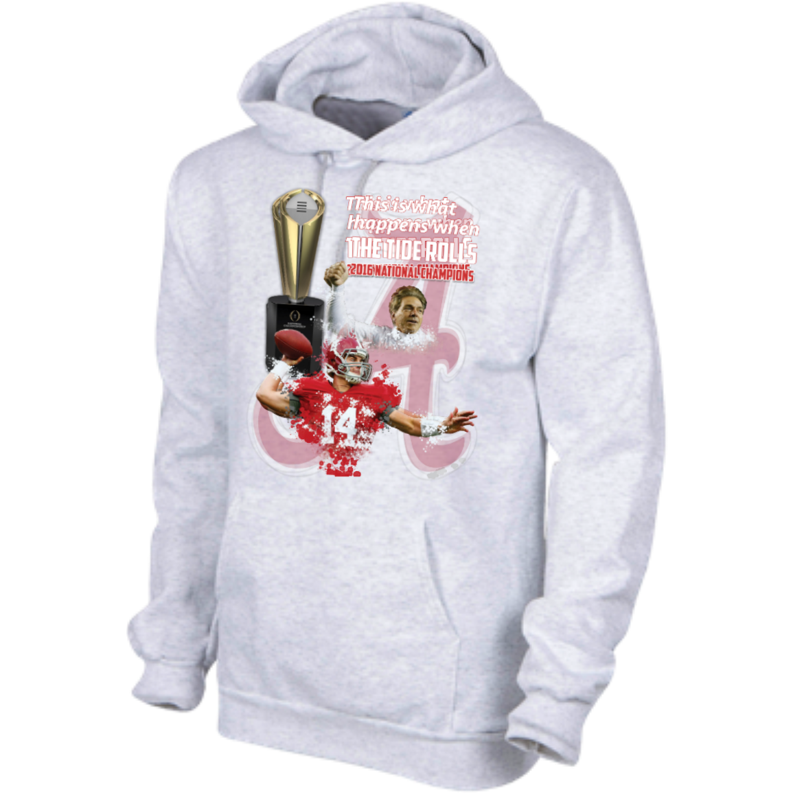 Alabama Crimson Tide 2016 National Champions Hooded Sweatshirt 9 5 Oz In 2021 Champion Hooded Sweatshirt Alabama Crimson Tide Crimson Tide [ 1155 x 1155 Pixel ]