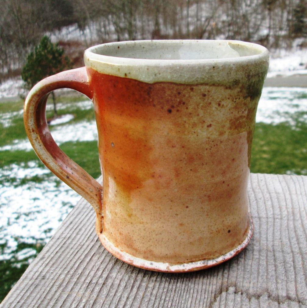 wood fired shino mug