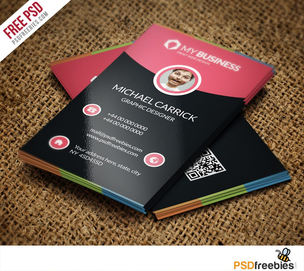 Modern Corporate Business Card Free Psd Vol Psdfreebies With Visiting Card Psd Template Free Dow Business Card Psd Corporate Business Card Business Card Design