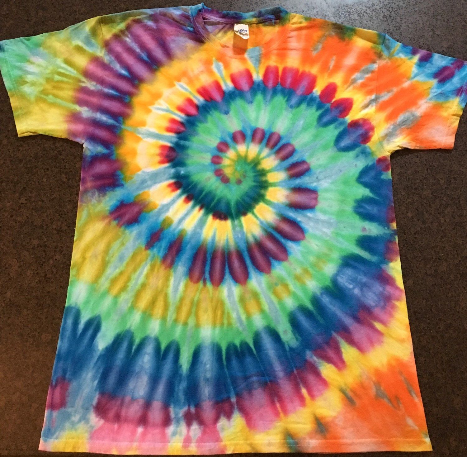 b28aa5eb471004 Tie Dye Carnival of Chaos T shirt ~ Adult Large ~ Hippie Trippy by  AllBottledUpTieDyes on