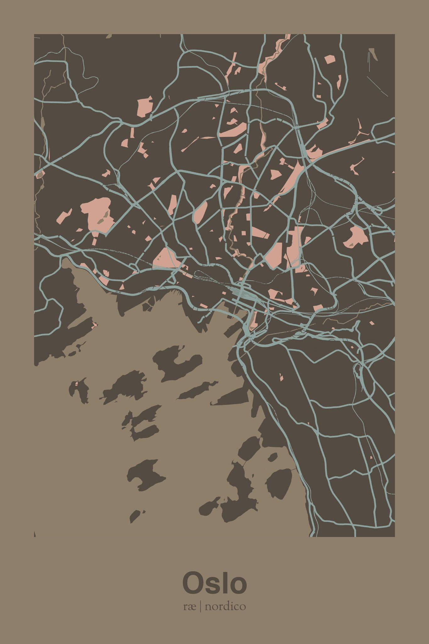 Oslo Norway Map Print Travelers Companion Pinterest Norway - Norway map to print