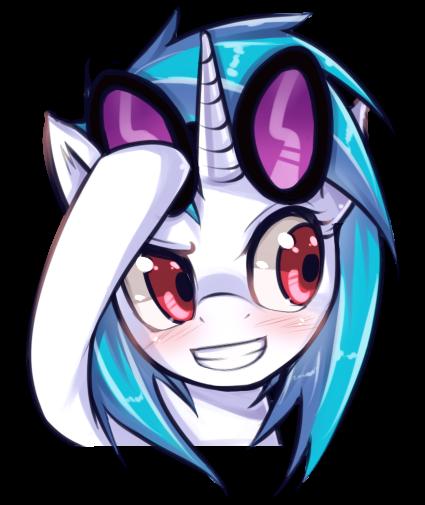 #263534 - artist:hua, blushing, portrait, safe, solo, vinyl scratch - Derpibooru - My Little Pony: Friendship is Magic Imageboard