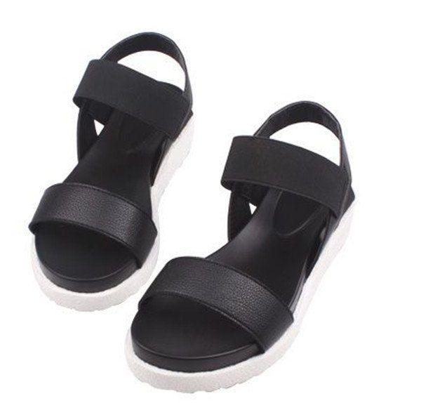 Women Beach Sandals Summer Casual Flat Shoes Peep toe Roman