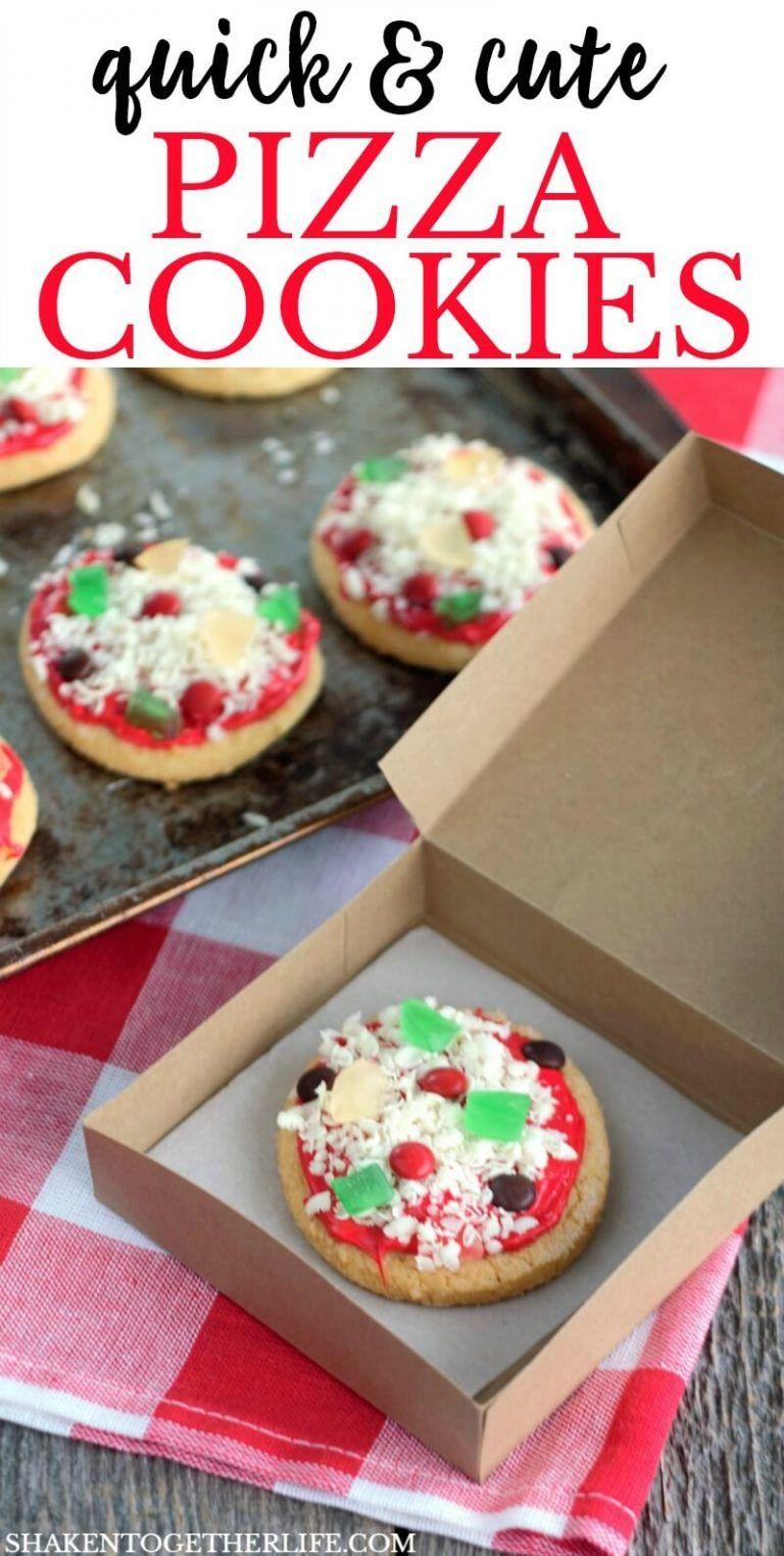 No Bake Sugar Cookie Pizza Cookies - Shaken Together