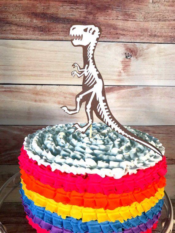 T Rex Cake Topper Dinosaur Dino Party Birthday