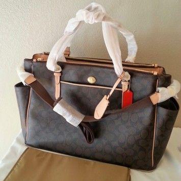 Coach Baby Peyton Multifunction Brown Diaper Bag F26181 267