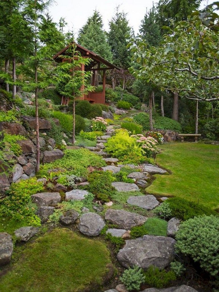 68+ Marvelous Rock Garden Ideas Backyard Front Yard ...