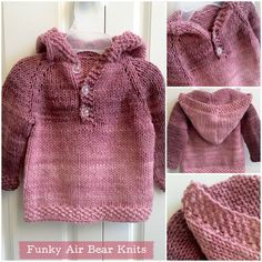 Pink ombre baby hooded sweater patterns babies and crochet pink ombre baby hooded sweater dt1010fo