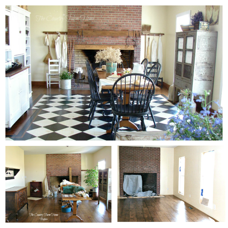 Before And After Series The Farmhouse Keeping Room Keeping Room Farmhouse Colonial House