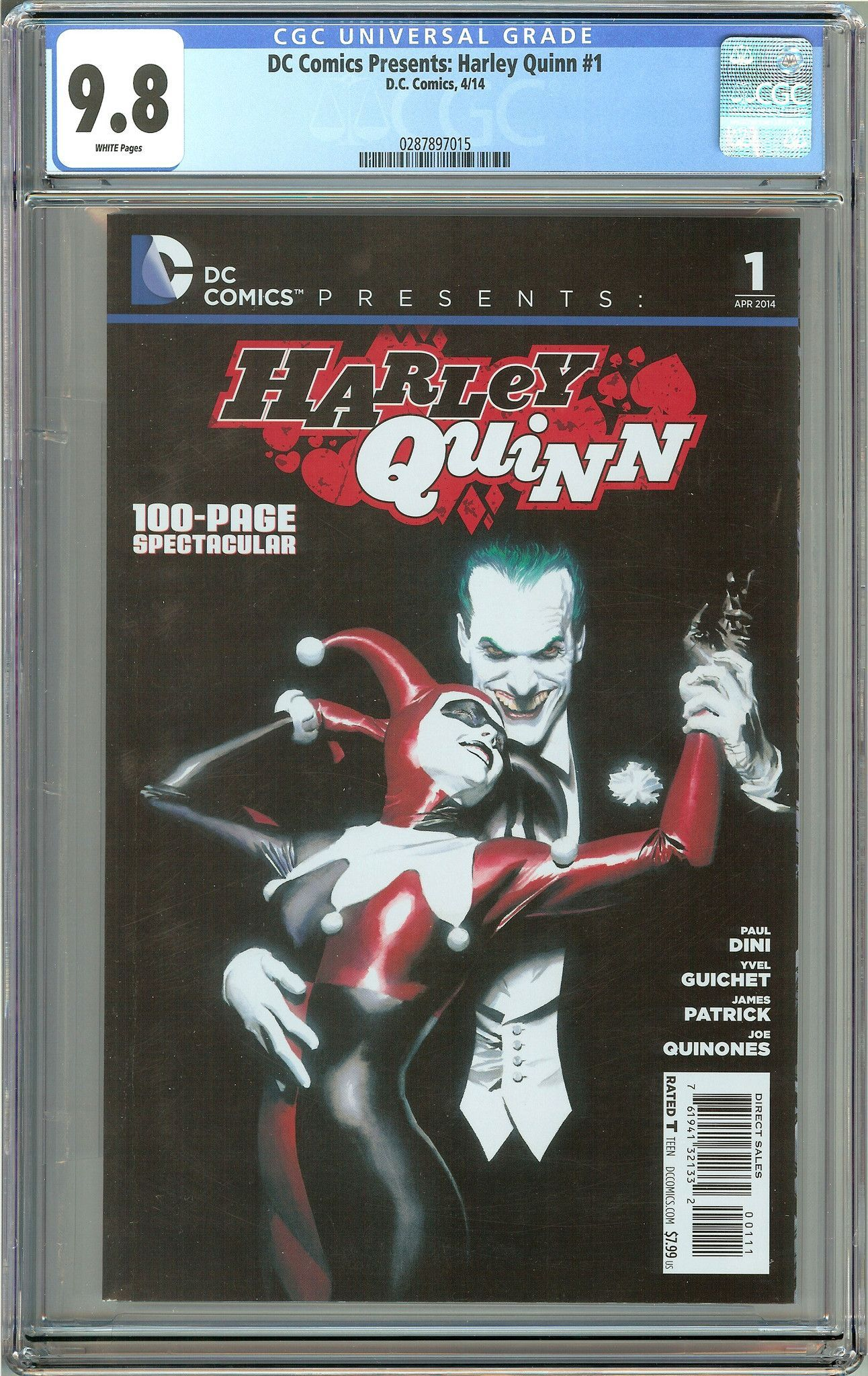 DC Comics Presents: Harley Quinn #1 (2014) CGC 9.8 White Pages 0287897015