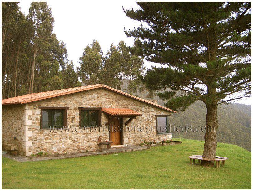 Planta baja casas con porche casas casas r sticas y - Construccion casas de piedra ...