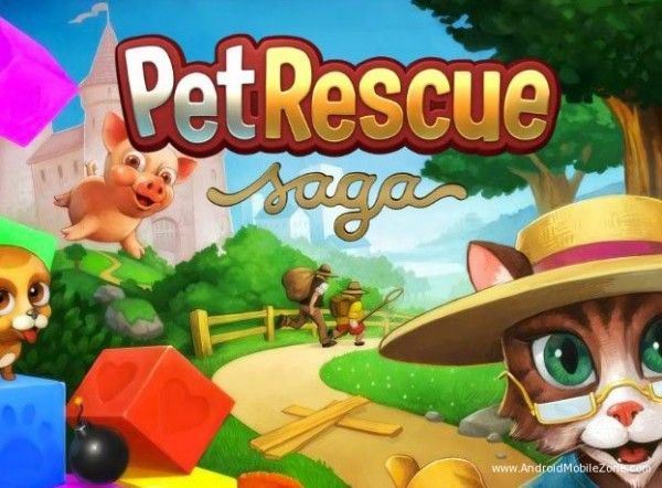 Pet Rescue Saga V1 35 3 Mod Apk Unlimited Lives Pet Rescue Saga Animal Rescue Pets