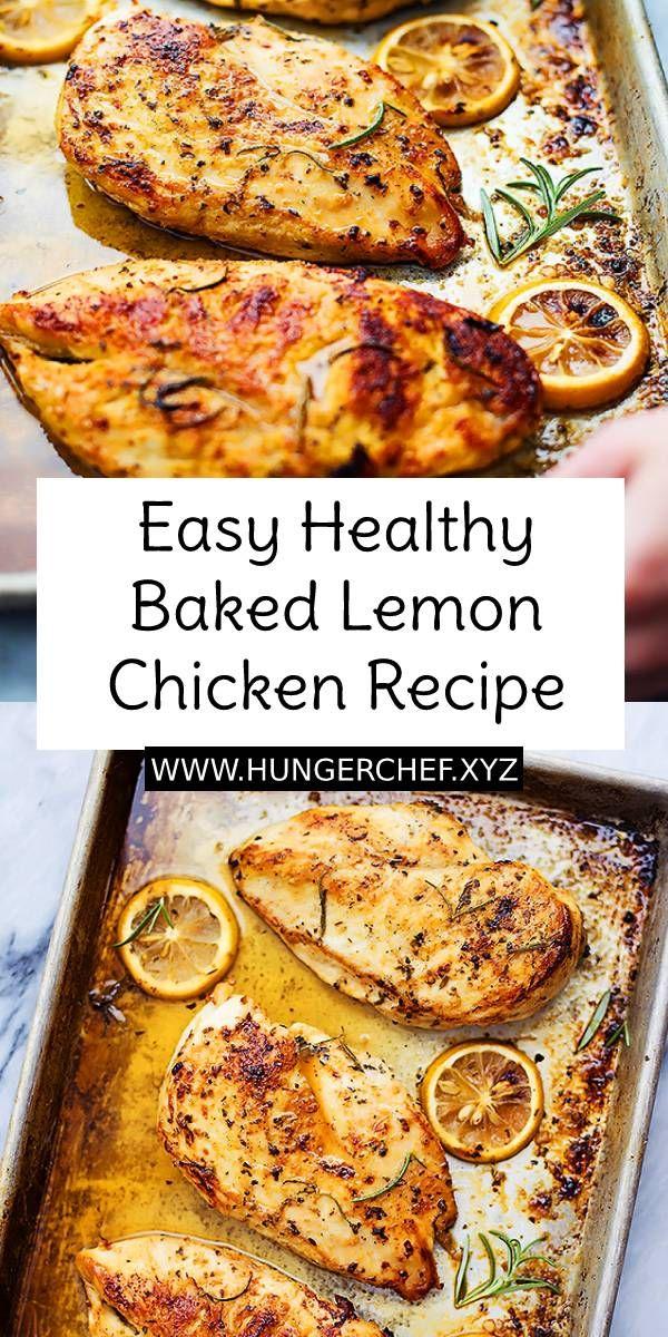 Easy Healthy Baked Lemon Chicken Recipe | Baked lemon ...