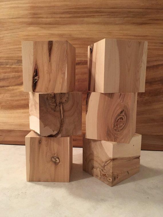 Set Of 6 4 Inch Cedar Wood Blocks Wood Crafts Engraving Wood