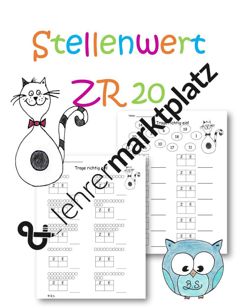 Arbeitsblätter Stellenwert ZR 20 – Mathematik | Lehrermarktplatz ...