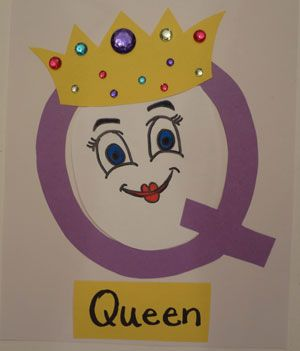 Letter Q Queen Craft Letter A Crafts Alphabet Letter Crafts Preschool Art