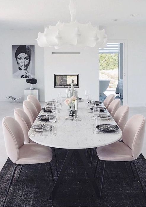 Photo of Beautiful delicate feminine dining area #living room # dining room # pink aesthetic #in …