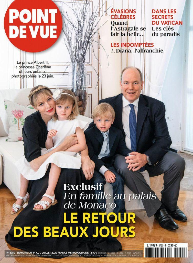 Point De Vue Back Issue No 3750 Digital In 2020 Princess Charlene Poses For Men Prince Albert
