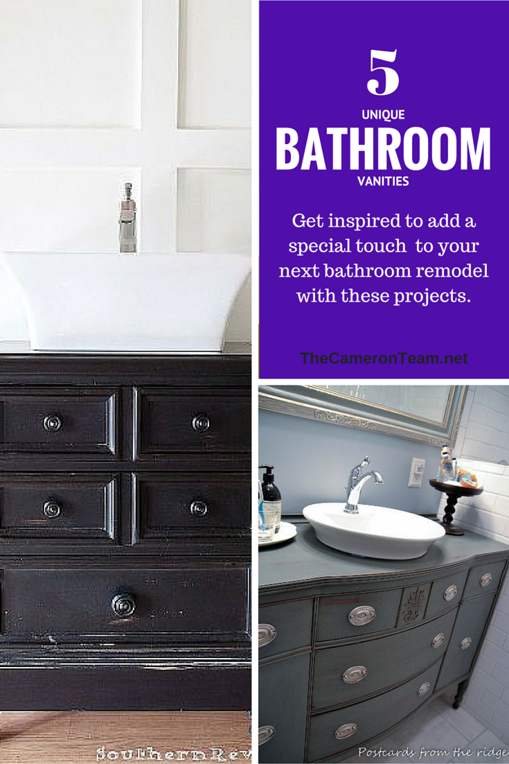 5 Unique Bathroom Vanities The Cameron Team Bathroom Vanity Unique Bathroom Vanity Bathroom Makeover
