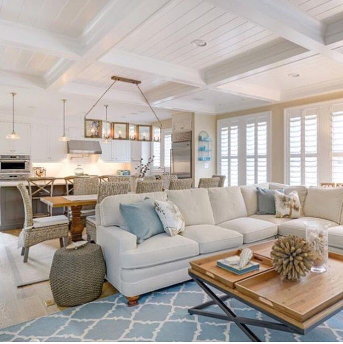 Pin By Nydia Reyes On Rustico Moderno Coastal Living Rooms Beach House Living Room Open Concept Living Room
