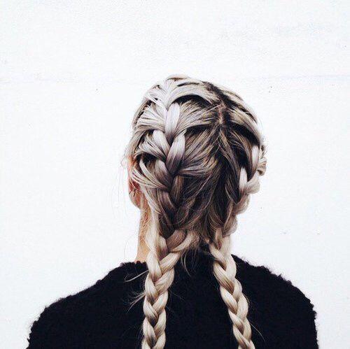 Two Braids Tumblr Google Search Hair Styles Hair Inspiration Hair Beauty
