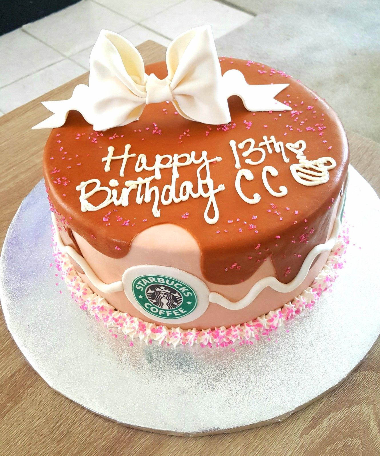 Starbucks birthday cake Cakes by Luz Pinterest Starbucks
