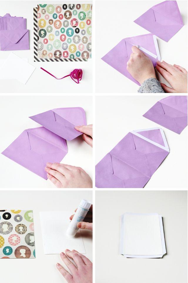 Diy Folding Envelope Mini Album Envelopes Learning And
